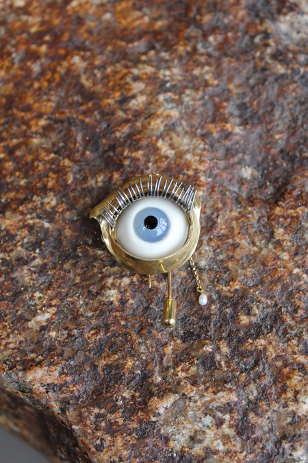 Beatriz Palacios Eye Brooch