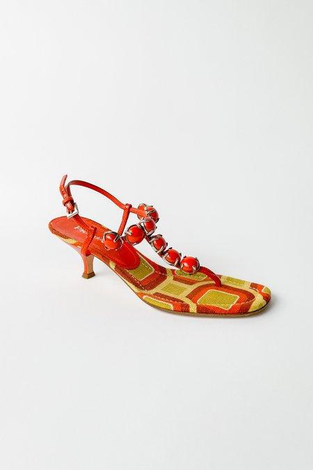 Vintage Prada Beaded Thong Sandals