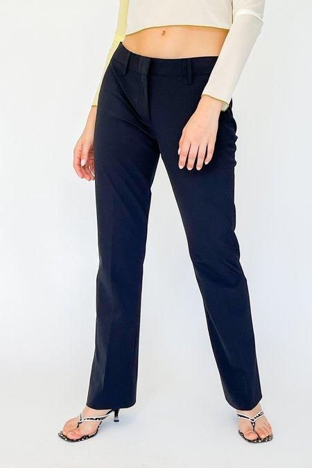 Vintage Prada Mid Rise Trousers - Navy