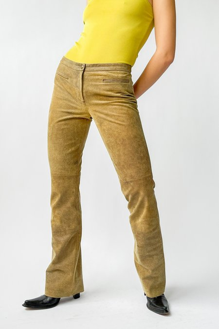 Vintage Suede Low Rise Baby Flare Pants