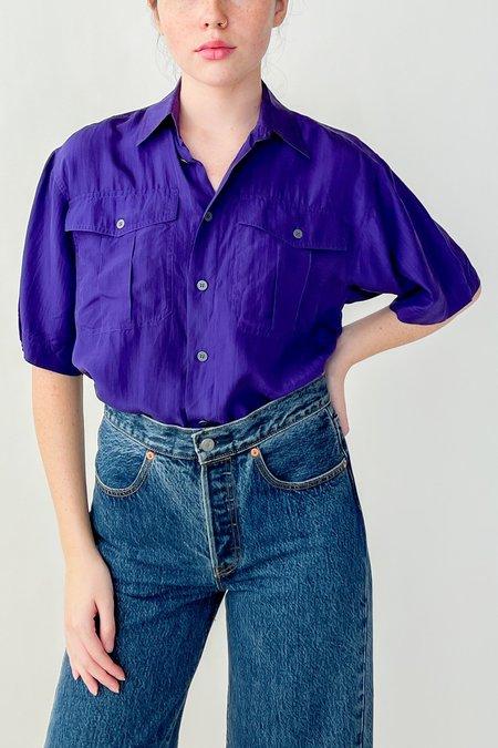 Vintage Silk Blouse - Violet