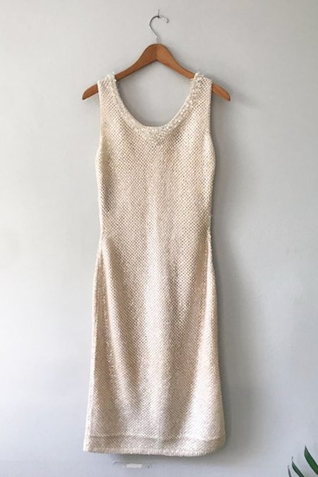 M.Patmos Vintage Beaded Knit Dress - Ivory