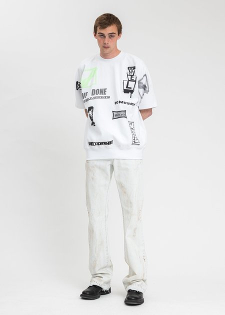 we11done Graphic All Over T-Shirt - white