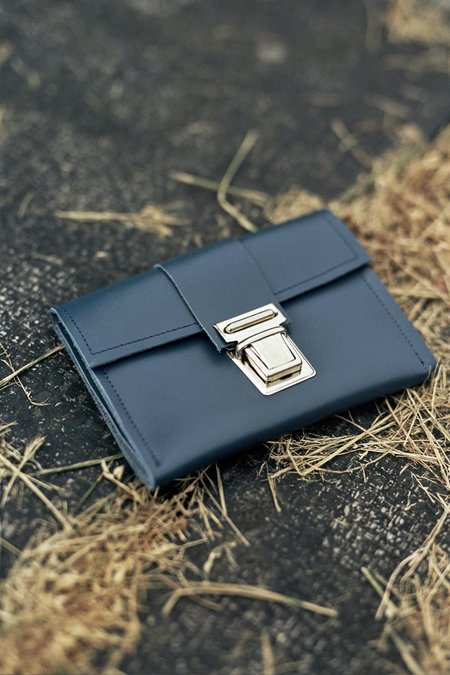 Camiel Fortgens Wallet - Blue Leather