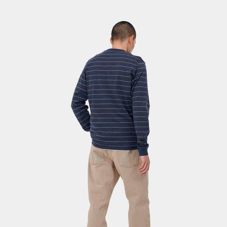 CARHARTT WIP L/S DENTON T-SHIRT - blue