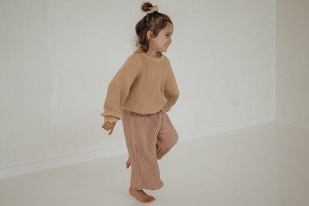 kids unisex Illoura the Label Essential Rib Knit Pant - Strawberry