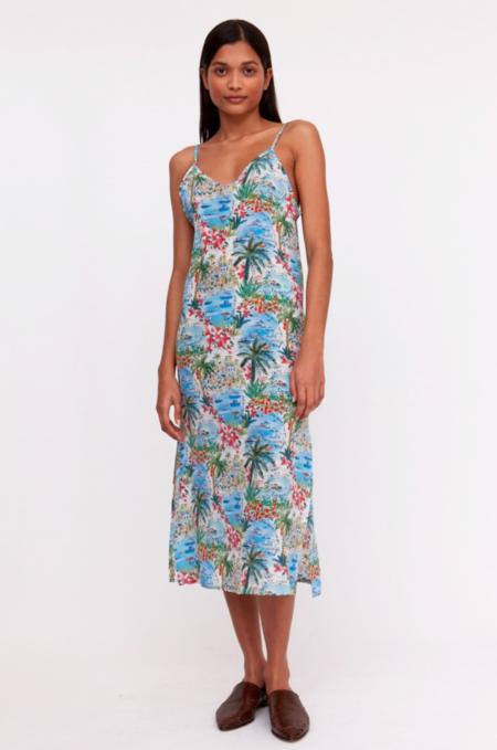 Roseanna Liberty Cordou Album Dress - Blue/Multi