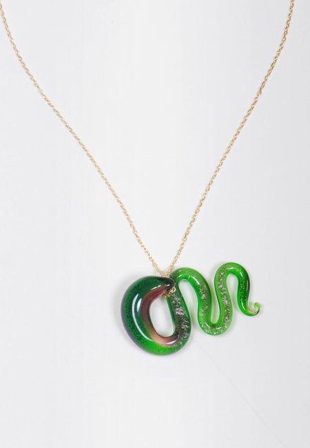 Ninfa Handmade Snake Necklace - earth