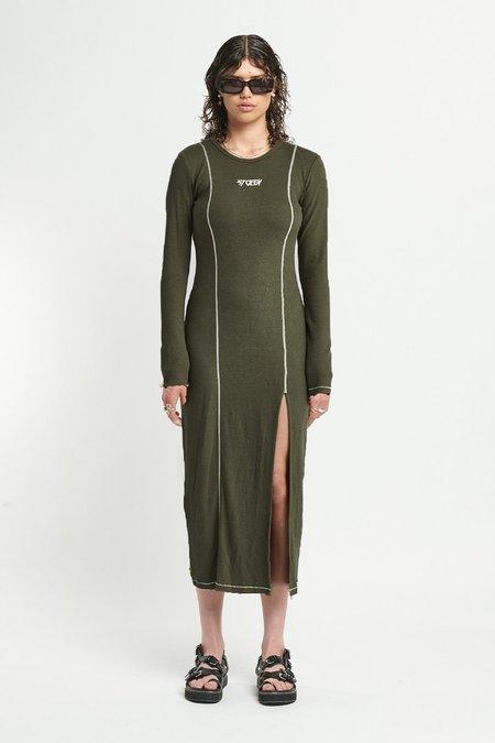 STOLEN GIRLFRIENDS CLUB Softly Sculpted Maxi DRESS - GREEN