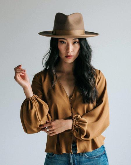 GiGi Pip Monroe Rancher Hat - Brown