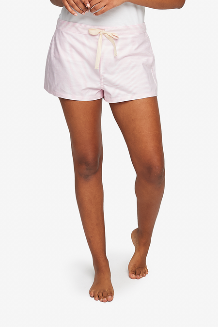 The Sleep Shirt Oxford Stripe Classic Short - Pink