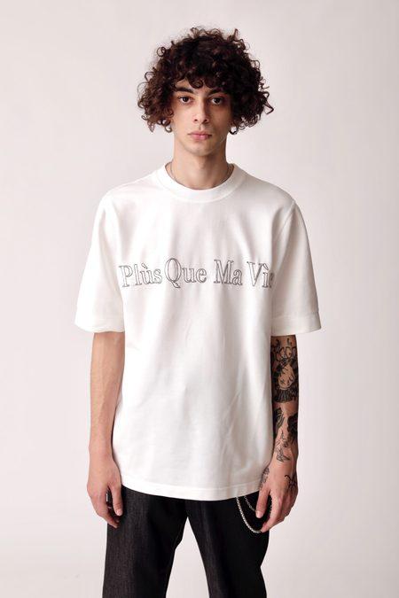 Plus Que Ma Vie Embroidery T-shirt - White