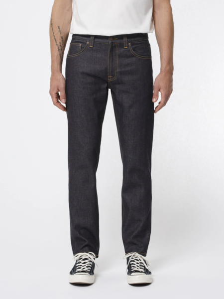 Nudie Jeans Gritty Jackson Dry Classic Navy Jean - Dark Denim