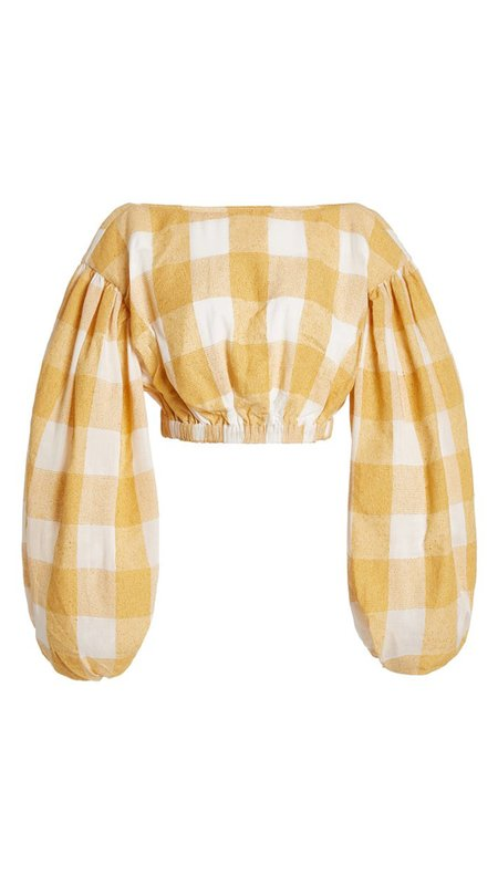 acler Sutherland Top - Canary Check