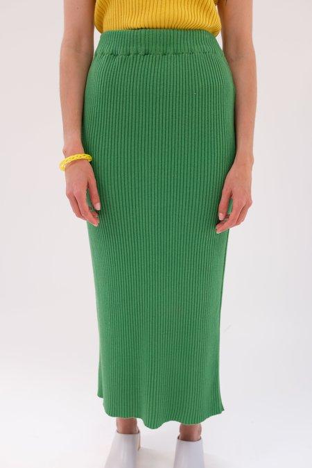 Beklina Ribbed Skirt - Basil