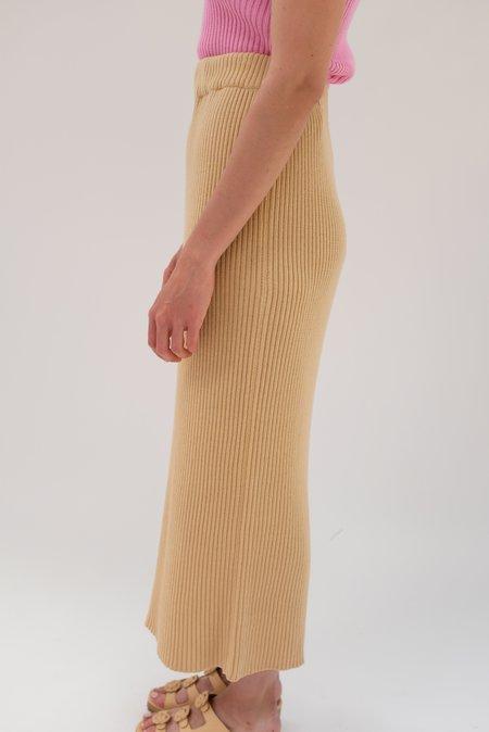 Beklina Ribbed Skirt - Pretzel