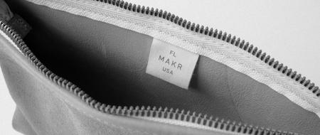 unisex MAKR Organizer Pouch - STONE HORWEEN SUEDE