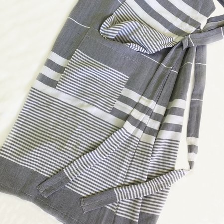 Coast Modern Turkish Towel Robe - Black