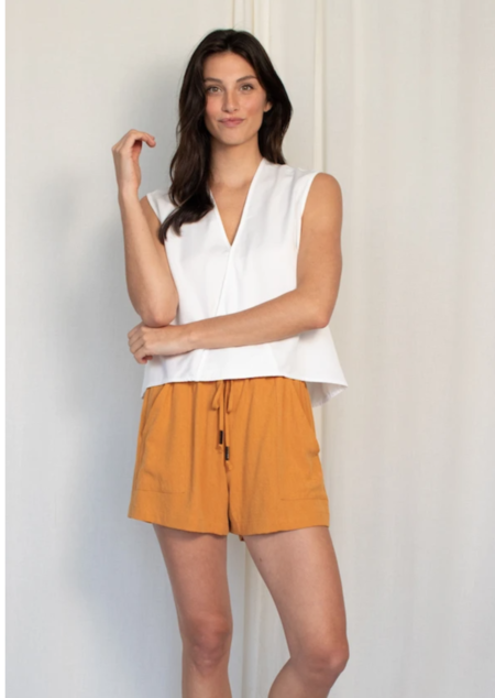Natalie Busby Drawstring Short - Saffron