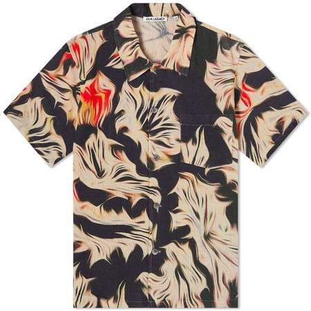 Our Legacy box Shirt Sleeve top - Platigyra Print