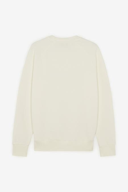 Maison Kitsuné Fox Head Patch Classic Sweatshirt - Ecru