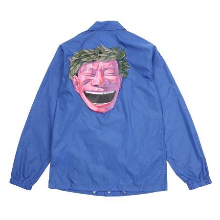 Comme Des Garcons Yue Minjun Printed Coach Jacket - Blue