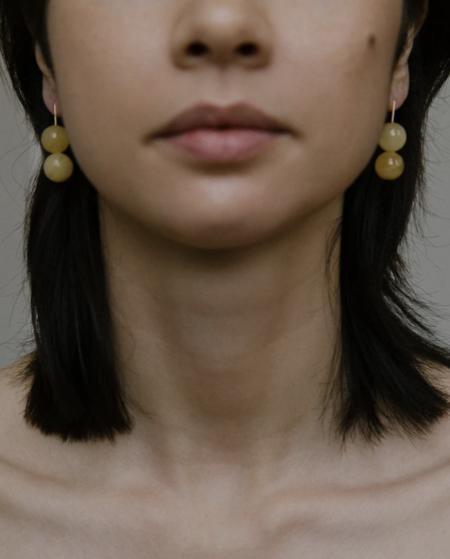 Vermeer Studio Daphne Earrings - Yellow calcite/Gold