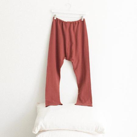ADVICE Article Three Drawstring Pants - Brick Brown