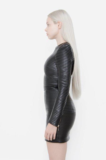 [PRE-LOVED] Balmain Pleated Leather Dress