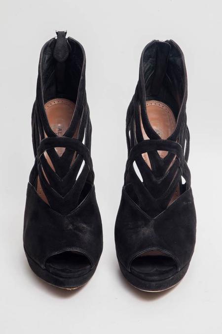 [PRE-LOVED] Alaia Suede Cutout Heels
