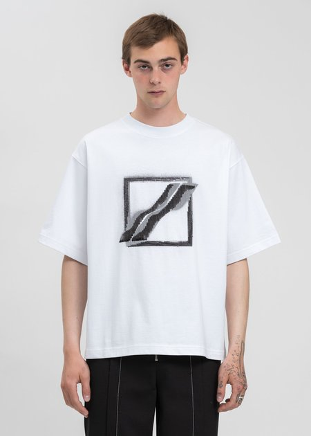 we11done Sequins Logo T-Shirt - White