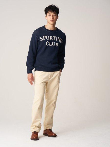 Freemans Sporting Club Sporting Club Jacquard Sweater - Navy