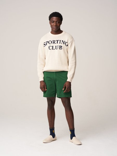Freemans Sporting Club Sporting Club Jacquard Sweater - Heather Grey