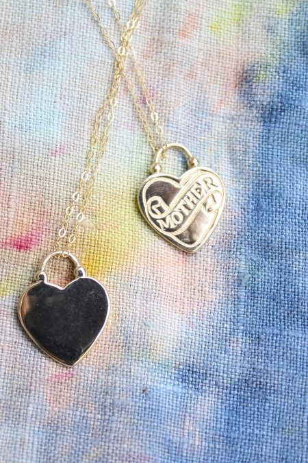 Margaret Cross Mother Love Token Necklace - Gold