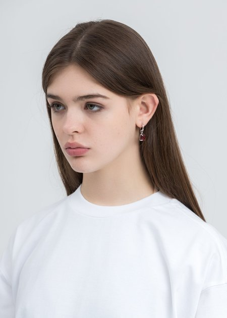 DEPARTMENT  Candy Earring - White/Gold/Red