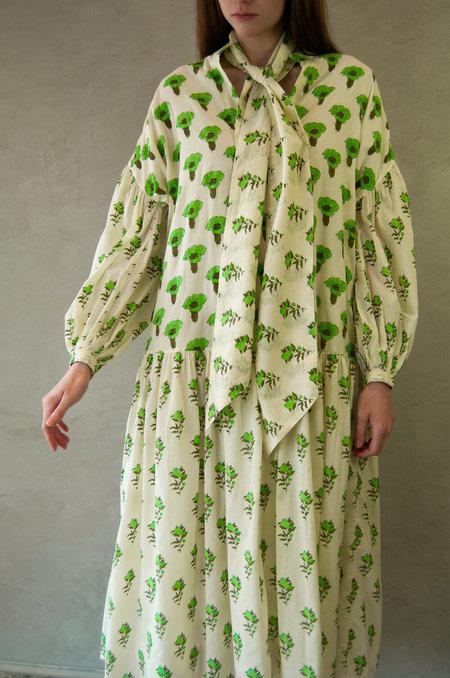 Aish Aaira Dress - Green Marigold/Anaar
