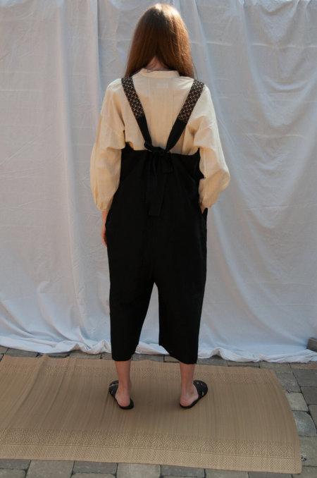 Bunon Embroidery Overalls - Black