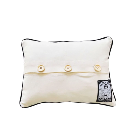 Aloha Zen Califorina Needlepoint Pillow - White/Blue