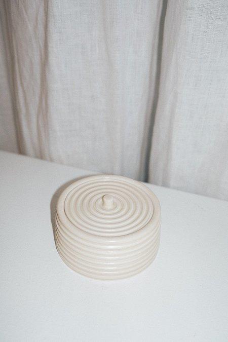 Umlaut Ceramics Striped Lidded Vessel