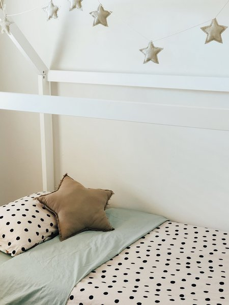KIDS Mosey Me Dot Fitted Cot & Bassinet Sheet - Blush