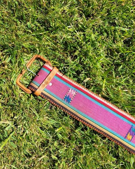 Vintage Sunset Wide Woven Belt