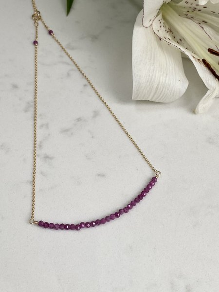 The Loved One Ruby Bar Choker Necklace