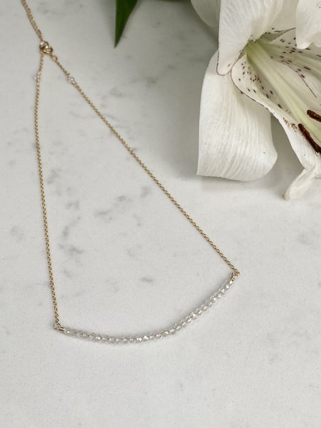 The Loved One Topaz Bar Choker Necklace