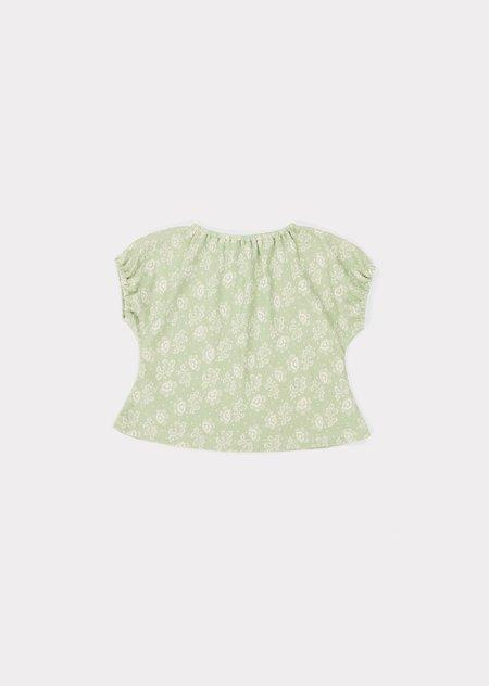 Kids Caramel Fugu Baby Set - Mint Print