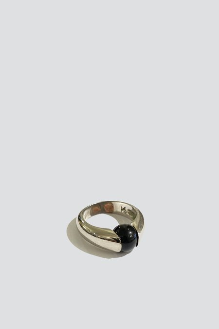 Vintage Onyx Suspend Ring - Sterling Silver