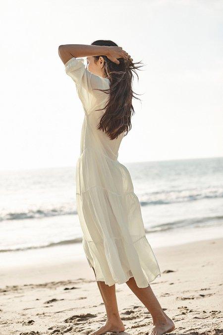 Velvet Jackie Dress - White