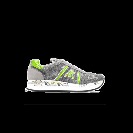 Premiata Conny Sequin Upper Conny-4504 Sneaker - Grey/Green