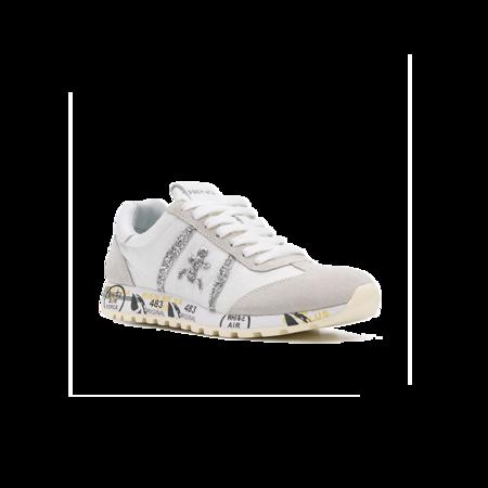 Premiata Lucy D Glitter Stripe LucyD-4548 Sneaker - White/Grey