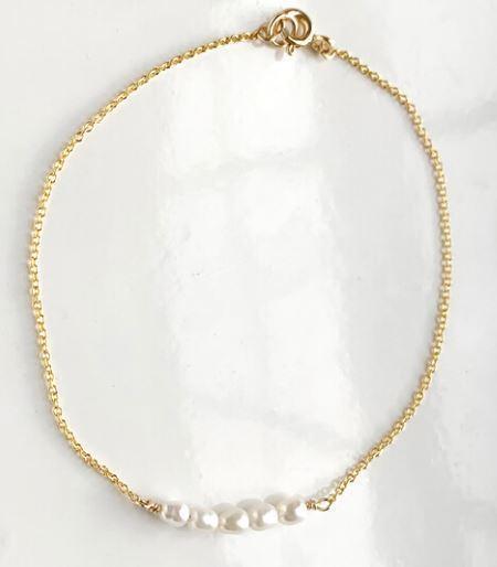 Gem & Blue Mini Pearl Bracelet