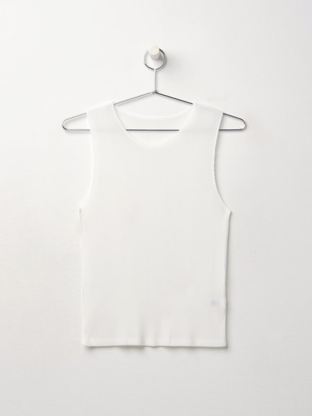Pleats Please By Issey Miyake Mist May Sleeveless - White
